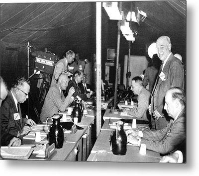 President Eisenhower Participates Metal Print by Everett