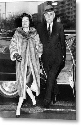 President Lyndon And Lady Bird Johnson Metal Print by Everett
