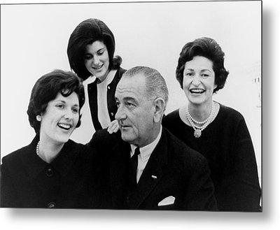 President Lyndon Johnson Family Metal Print by Everett