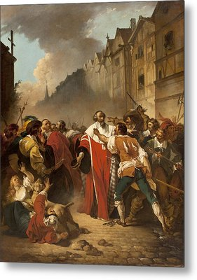 President Mole Manhandled By Insurgents Metal Print by Francois Andre Vincent