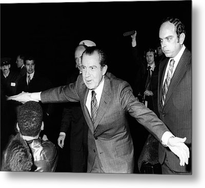 President Richard Nixon Extends Himself Metal Print by Everett