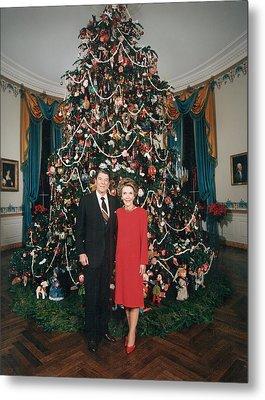 President Ronald Reagan, First Lady Metal Print by Everett
