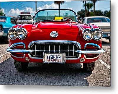 Pretty In Red Metal Print by Christopher Holmes