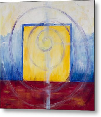 Primary Abstract Metal Print