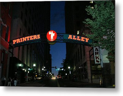 Printers Alley In Nashville Metal Print