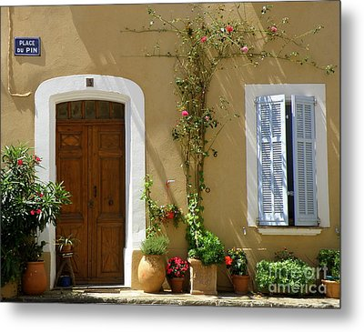 Metal Print featuring the photograph Provence Door 3 by Lainie Wrightson