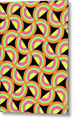Psychedelic Squares Metal Print