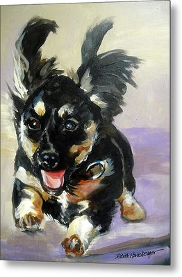 Puppy Joy Metal Print