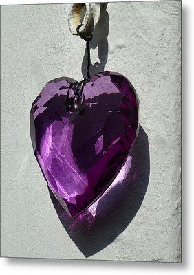 Purple Heart. Metal Print by Debra Collins