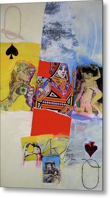 Queen Of Spades 45-52 Metal Print by Cliff Spohn