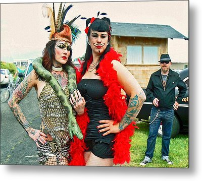 Queenie And Bettie Metal Print by Pamela Patch