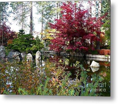 Quiet Autumn Pond Metal Print by Carol Groenen