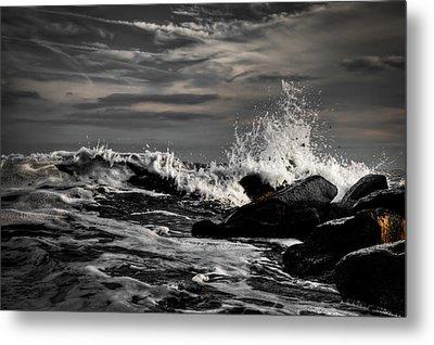 Raging Seas Metal Print by David Hahn