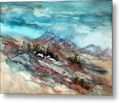 Rain Over The Mountain Metal Print by Ron Stephens