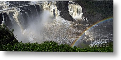 Rainbow And The Waterfall Metal Print by Vilas Malankar