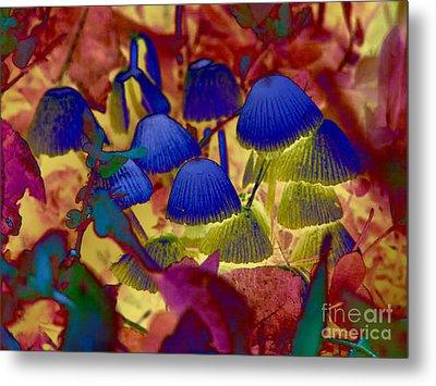 Rainbow Mushrooms Metal Print by Erica Hanel