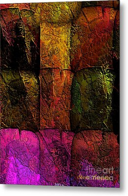 Metal Print featuring the painting Rainbows And Stone 2 by Steven Lebron Langston