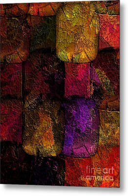 Metal Print featuring the painting Rainbows And Stones by Steven Lebron Langston