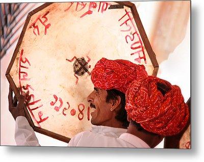 Rajasthani Drummers Metal Print by Mostafa Moftah