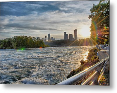 Metal Print featuring the photograph Rapids Sunset by Michael Frank Jr