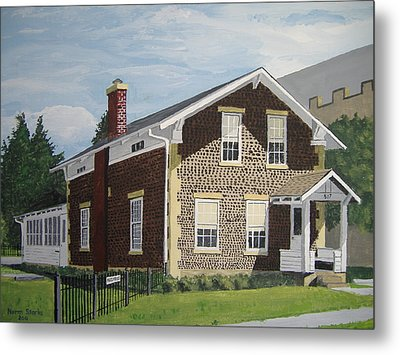 Metal Print featuring the painting Rasey House by Norm Starks