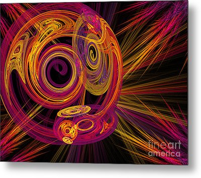 Record Time Machine Metal Print by Andee Design