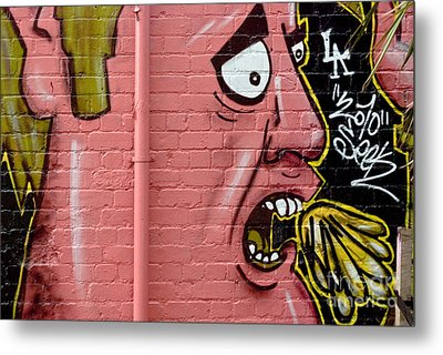 Red Face Anger Metal Print by Yurix Sardinelly