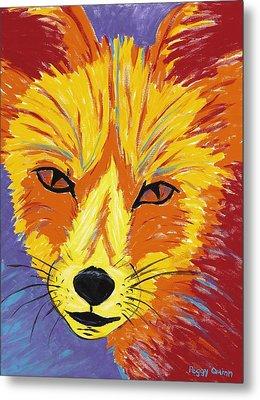 Red Fox Metal Print by Peggy Quinn