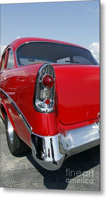 Metal Print featuring the photograph Red Hot Rod by Denise Pohl