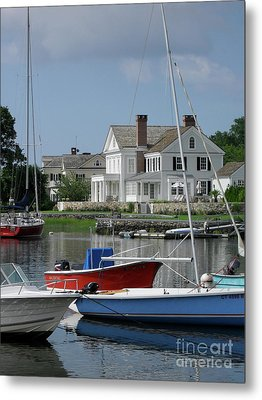 Metal Print featuring the photograph Red White Blue by Beth Saffer