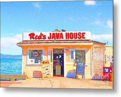 Reds Java House At San Francisco Embarcadero Metal Print by Wingsdomain Art and Photography