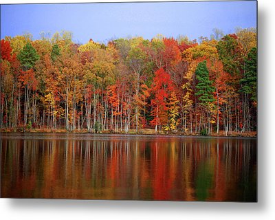 Reflecting On Time Metal Print