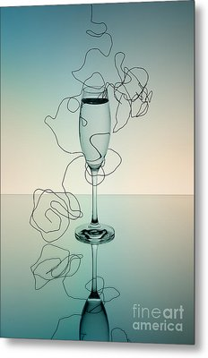Reflection 03 Metal Print by Nailia Schwarz