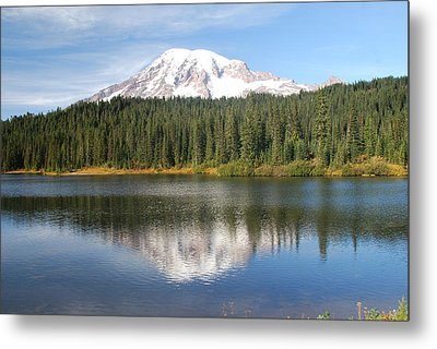 Reflection Lake - Mt. Rainier Metal Print