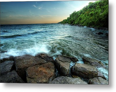 Metal Print featuring the photograph Reflection On The Rocks by Anthony Rego