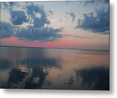 Reflections On The Sound Metal Print