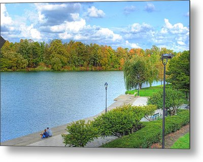 Metal Print featuring the photograph Relaxing At Hoyt Lake by Michael Frank Jr
