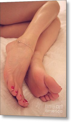 Relaxing Feet Metal Print by Tos Photos