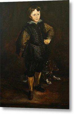 Replica Of Sir Anthony Van Dyck's Filippo Cattaneo Metal Print by Tigran Ghulyan