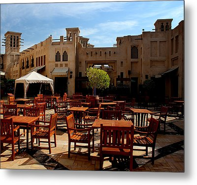Restaurant In Old Town  Metal Print by Radoslav Nedelchev