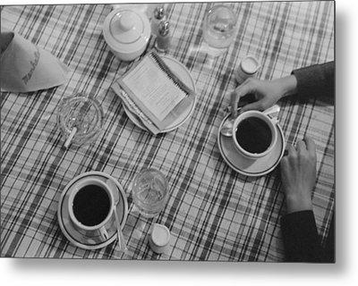 Restaurant Still Life Of Coffee Metal Print
