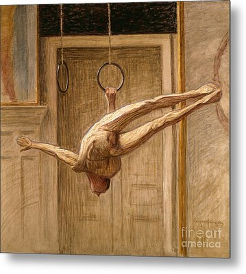 Ring Gymnast No 2 Metal Print by Eugene Jansson