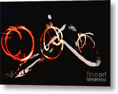 Metal Print featuring the photograph Burning Rings Of Fire by Clayton Bruster