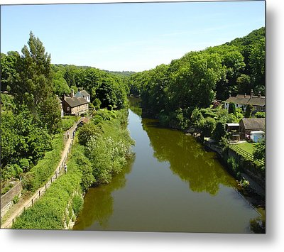 River Severn From The Iron Bridge Metal Print by Rod Johnson