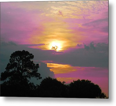 River To Heaven Metal Print by Judy Via-Wolff