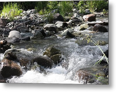 Metal Print featuring the photograph River Waterfall by Marta Alfred