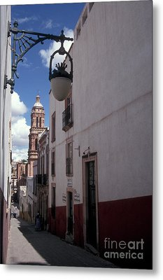 Metal Print featuring the photograph Road To The Cathedral Zacatecas Mexico by John  Mitchell