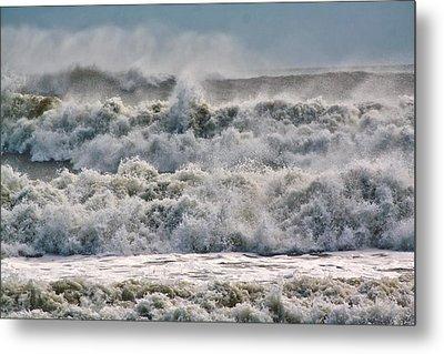 Roaring Sea Metal Print by Nancie Rowan