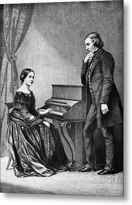 Robert And Clara Schumann, German Metal Print by Omikron