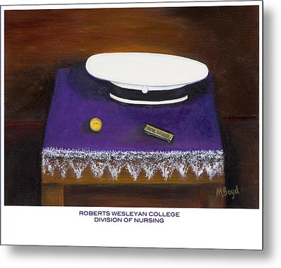 Metal Print featuring the painting Roberts Wesleyan College Division Of Nursing by Marlyn Boyd